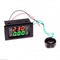 Medidor de Voltaje y corriente AC