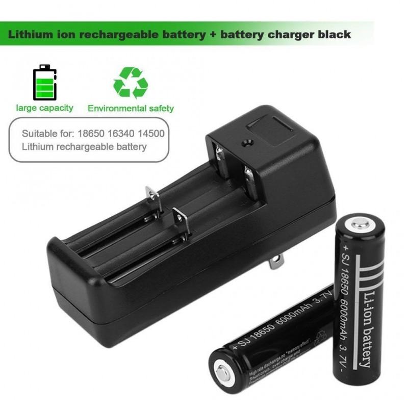 Cargador de baterias de li-Ion 18650, 16340, 14500 de 3.7V