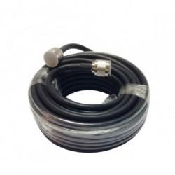 Cable RG8 con conector RF TIPO N macho 5m