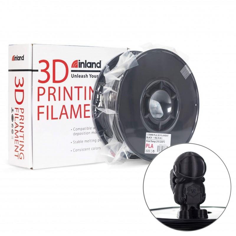 Filamento PLA Inland Negro 1.75 mm , 2.2 lb