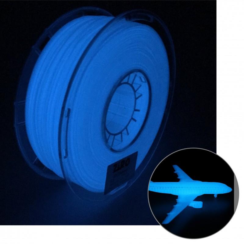 Filamento ZIRO para impresora 3D azul fluoresente