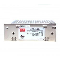 Fuente de energia de salida triple NET-35B 5/12V -12V 35W