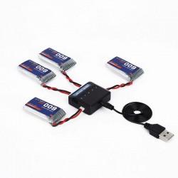 Cargador de Baterias para Drones 3.7V
