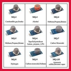 Kit de 9 sensores MQ