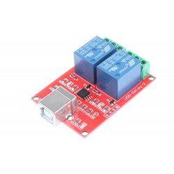 Rele 2 canales 5V 10A USB