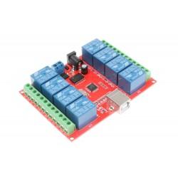Relé 8 canales 5V 10A USB
