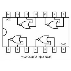 74hc08 Quad 2 de entrada y puerta lógica Ic paquete De 4