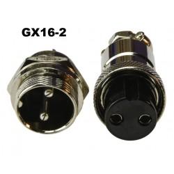 Conector GX16-2 tipo...