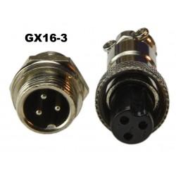 Conector GX16-3 tipo...