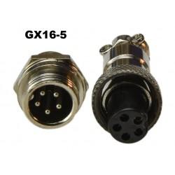 Conector GX16-5 tipo...