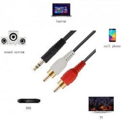 cable de 3.5mm a 2 RCA 8...
