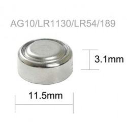 Baterías AG10 / LR1130 1.5V