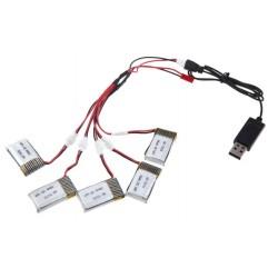 Cargador de 5 baterías 3.7V...