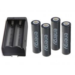 Kit de 4 baterías 18650...