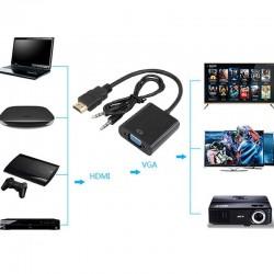 Convertidor de video de HDMI a VGA mas audio