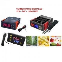 Termostatos digitales 12V -...