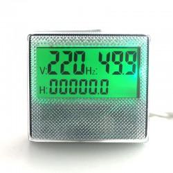 Medidor de horas, frecuencia y voltaje