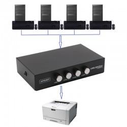 Switch USB de 4 puertos para impresoras
