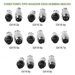 Conector tipo Aviador GX16