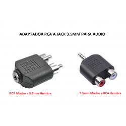 Adaptador RCA a Jack 3.5mm...