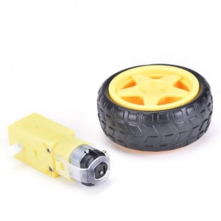Llanta y motor para Carrito Robot