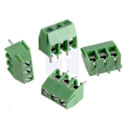 Conector tipo bloque tres pines (4 unidades)