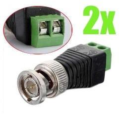 2X conector BNC para CCTV