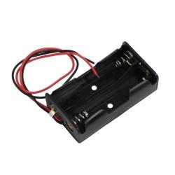 Contenedor bateria doble AA abierto