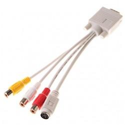 Convertidor de Audio y Video, RCA a VGA a SVGA