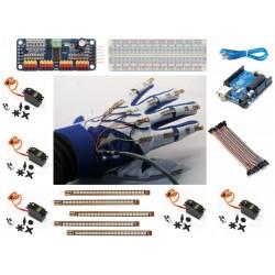 KIT mano robotica con sensores Flex