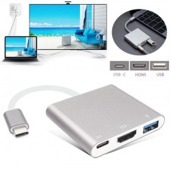 USB-c a USB-HDMI-USB-c