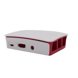 Case plastico para Raspberry blanco y rojo