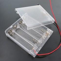 Contenedor de  4 baterias AA con interruptor