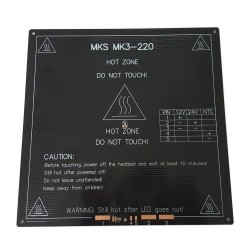 Base termica impresora 3D 220mmx220mmx3mm 110 oc