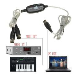 adaptador  Midi a USB
