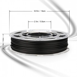 Filamento para impresora 3D AMOLEN, PLA negro conductor