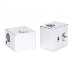Bloque de aluminio para extrusor impresora 3D 16x16x12