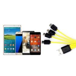 Cable USB micro USB 4 en 1